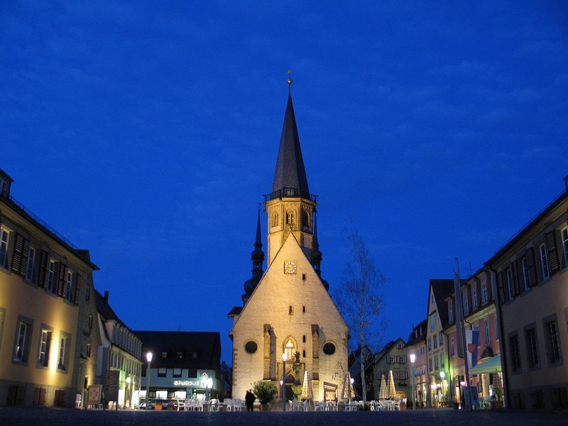 Market Square of Weikersheim and Church of St. Georg